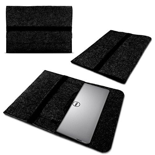 UC-Express Laptop Case Sleeve voor Dell Latitude 5590 Notebook Netbook Ultrabook Case gemaakt van duurzaam vilt in donkergrijs