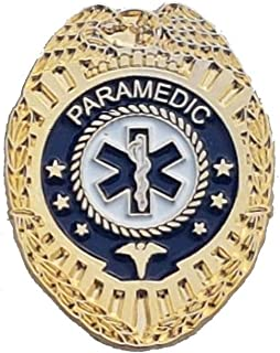 911 Market Paramedic Badge Gold Lapel Pin Emergency Medical EMS Ambulance Service - A 89
