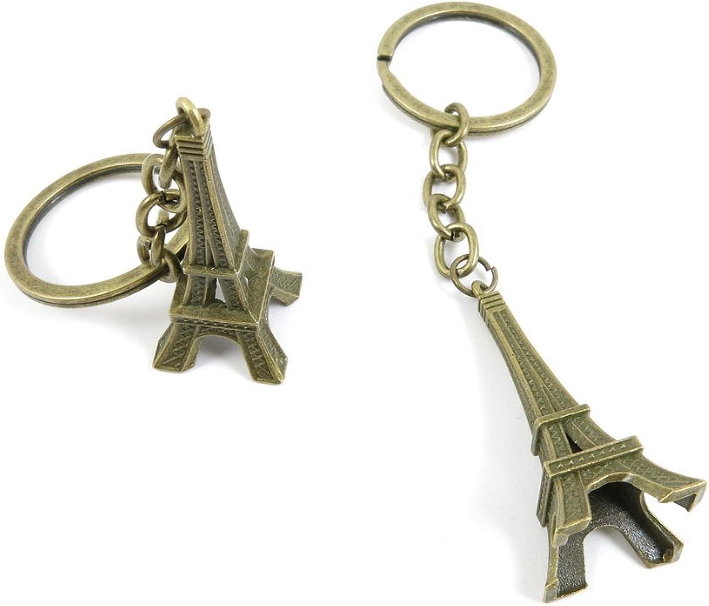 80 PCS Keyring Car Door Key Ring Tag Chain Keychain Wholesale Suppliers Charms Handmade A5XC5 Paris Eiffel Tower