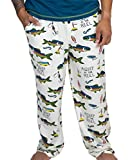 Lazy One Animal Pajama Pants for Men, Men's Separate Bottoms, Lounge Pants, Fishing, Outdoors (Asleep at The Reel, Small)