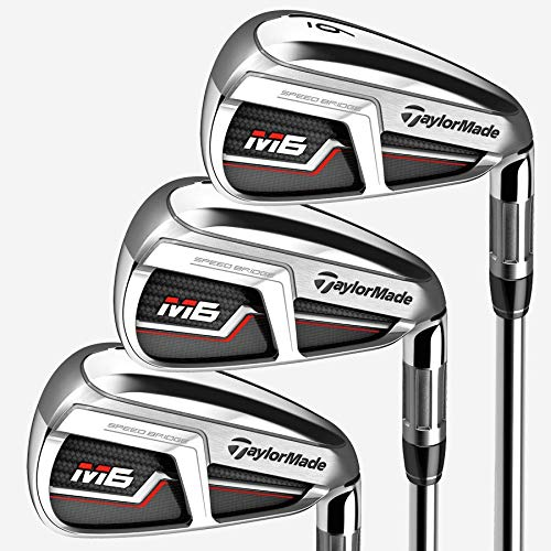 Learn More About TaylorMade Golf M6 Iron Set, 4-PW, Left Hand, Stiff Flex Shaft: Fujikura Atmos Oran...