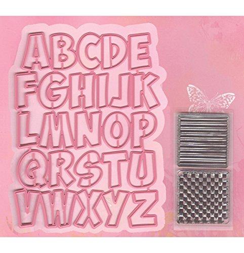 Marianne Design Collectables Troqueles Alfabeto, Metal, Rosa, 6.6x6.5x3 cm