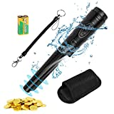 Metal Detector Pinpointer, Waterproof Handheld Pin Pointer Wand with Belt Holster, Underwater Gold Metal Detecting Tool Accessories 360Search Treasure Hunting for Adults Kids (3 Modes)