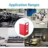 ポータブル冷蔵庫経済的で実用的な使いやすいミニUSB冷蔵庫LEDミニUSB冷蔵庫家庭用車用(red)