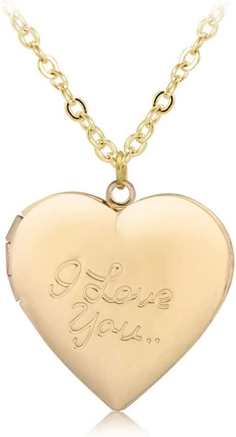 Locket Necklace That Holds Pictures I Love You Photo Lockets Necklace Mothers Day Birthday Christmas Gifts for Girls Women