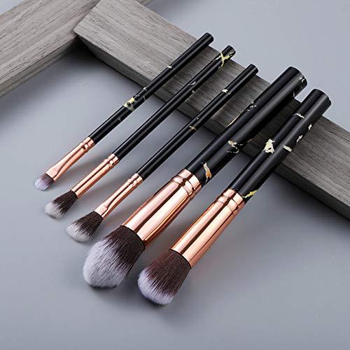 MLYJC Pinceaux Maquillage kit Ensemble de pinceaux de maquillage Brosses à outils Pinceau de maquillage multifonctionnel Correcteur de fard à paupières Fondation, 5pcs noir