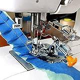 YEQIN Ruffler Foot (#55705) Sewing Machine Presser Foot for Singer Brother Juki Low Shank Sewing Machine (Yellow Box)