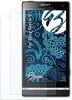 Bruni Skärmskydd är kompatibel med Sony Xperia S Film, kristallklart Skyddsfilm (2X)