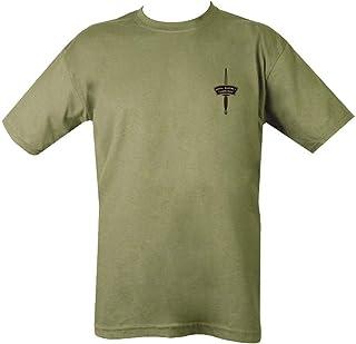 Kombat Mens Military Printed Army Combat Royal Marine para Marines Parachute Regiment SAS British US Army T-Shirt Tshirt