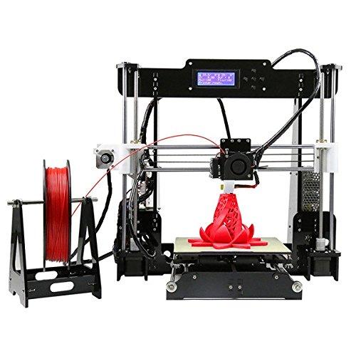Anet A8 Upgrade Impresora 3D Escritorio DIY Kit MK8 Upgrade | Incluida Tarjeta SD 8Gb y 1 Rollo de Filamento PLA | Compatible con múltiples filamentos