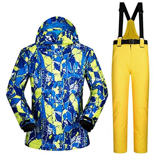 NYKK Ski für Anzüge Ski-Jacke und Hose Herren-Winter-warme Ski und Snowboard-Anzüge Jacke + Pants windundurchlässige wasserdicht Wear Männer Zu Skibekleidung (Color : J, Size : M)