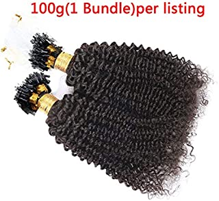 Hesperis Brazilian Kinky Curly Micro Loop Hair Extensions Small Curly 100g Per Pack Human Hair Deep Wave Micro Rings Hair Extensions 1g/strand (16inch)