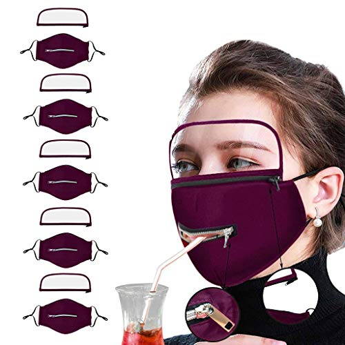 poundy bags 3D Printing Women Masque Outdoor Dustproofing Anti-Fog Safety Protect Face Cloth with Eyes Protect Red