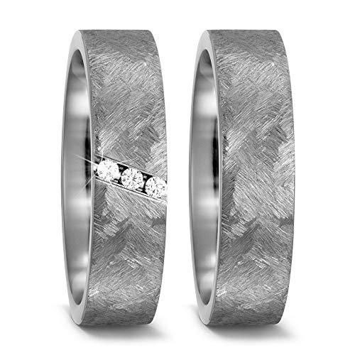 CORE by Schumann Design Trauringe Eheringe aus Titan mit echten Diamanten GRATIS Gravur 20003830