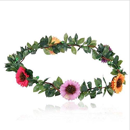 Mori Fille propre de plage de simulation Daisy Guirlande de fleurs Headdresses et Lovely propre Tissu Guirlande