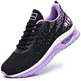MEHOTO Womens Fashion Lightweight Tennis Walking Shoes Sport Air Fitness Gym Jogging Running Sneakers (Purple US 8.5 B(M)