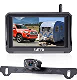 AMTIFO HD 1080P Digital Wireless Backup Camera with 5'' Monitor for Trucks,Cars,Campers,Vans, Observation System with Stable Signal,IP69 Waterproof,Super Night Vision,Guide Lines On/Off - A6