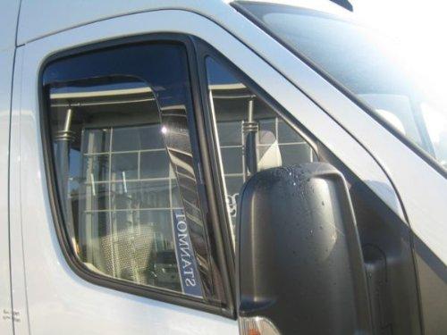 ZentimeX Z769791 Windabweiser Regenabweiser Acrylglas dunkelgrau für VORNE
