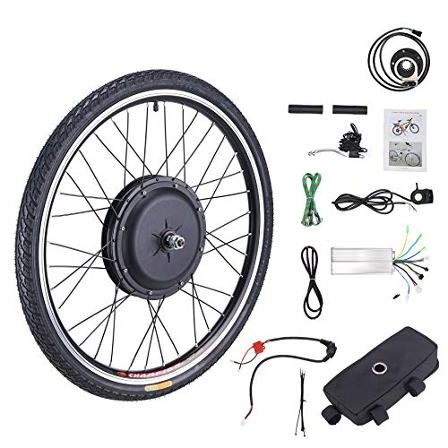 Z ZELUS 48V 1000W 26' Electric Bikes Conversion Kit Front or Rear Wheel E Bike Conversion Kit Hub Motor Electric Bike Wheel Conversion Kit (Front Wheel)