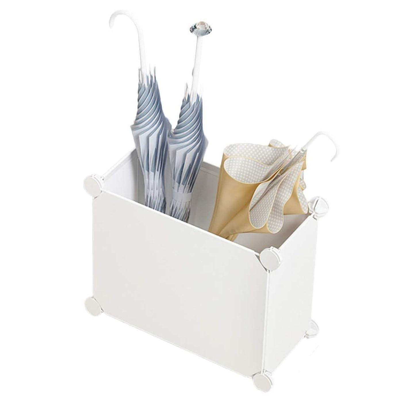 栄光の塩辛い追放する傘立て分解収納アーティファクトシンプルホームロビー商業配置ドア3色39 * 19 * 39cm XMJ(色:白)