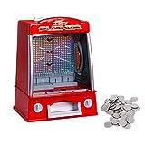 COSTWAY Münzschieber mit Spielmünzen | Coin Pusher 26 x 20 x 35 cm | Geldspielautomat |...