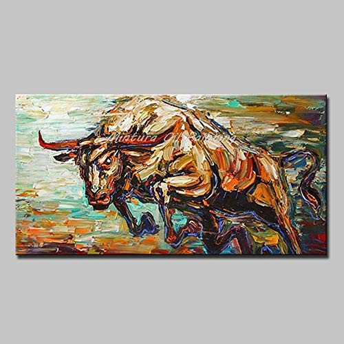 SHYHSCLBD Pintura Al Óleo Pintada A Mano sobre,Pintura De Animales Abstractos,Fuerte Brown...