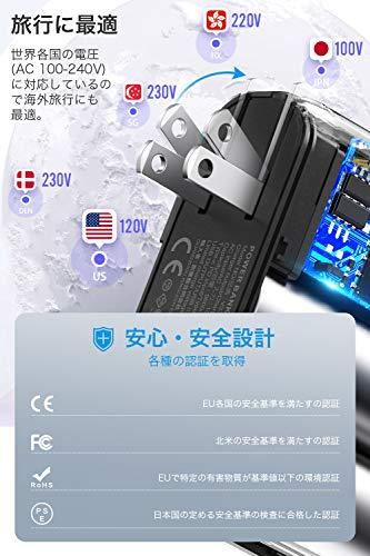 KYOKAモバイルバッテリー大容量9600mAh(PD対応+ケーブル内蔵)軽量USB-C急速充電器18W急速充電LEDライトusbコンセント(Lightning/Type-C2種類ケーブル内蔵)最大5V/3AACアダプター折りたたみ式プラグUSB-AUSB-C2ポートスマホ充電器災害/旅行/アウトドア用防災グッズUSB充電器iPhone12/12