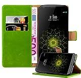 Cadorabo Funda Libro para LG G5 en Verde Hierba - Cubierta Proteccíon con Cierre Magnético, Tarjetero y Función de Suporte - Etui Case Cover Carcasa