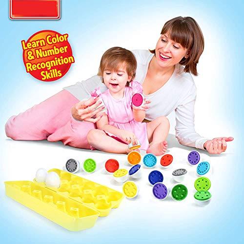 2020 Juguetes educativos de niños en Edad Preescolar aprenden a Contar, clasificar, y el número de Ajuste de Forma Que Coincide con Huevo + Juguetes