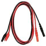 HoldPeak HP-9101 1 Paar hochflexible Messleitungen Sicherheitsstecker Krokodilklemmen, Laborkabel, Messkabel Rot/Schwarz