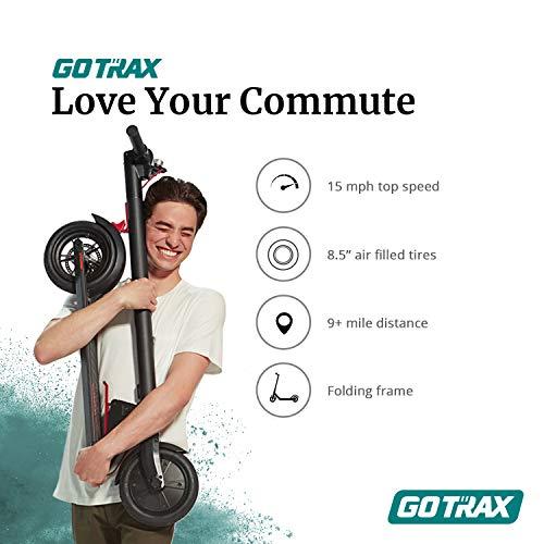 Gotrax GXL V2 Commuting Electric Scooter - 8.5' Air Filled Tires - 15.5MPH & 9-12 Mile Range - Version 2 (V2)