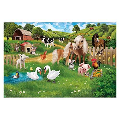 Vliestapete Tiere auf dem Bauernhof, HxB: 190cm x 288cm