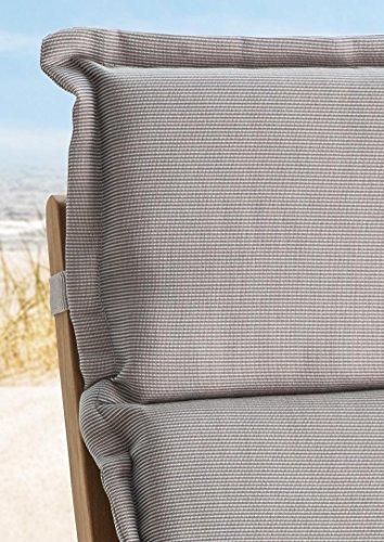 Destiny Auflage Luxe in Struktur Sand für Hochlehner Klappsessel Polster Kissen Abziehbar & Waschbar (300014)
