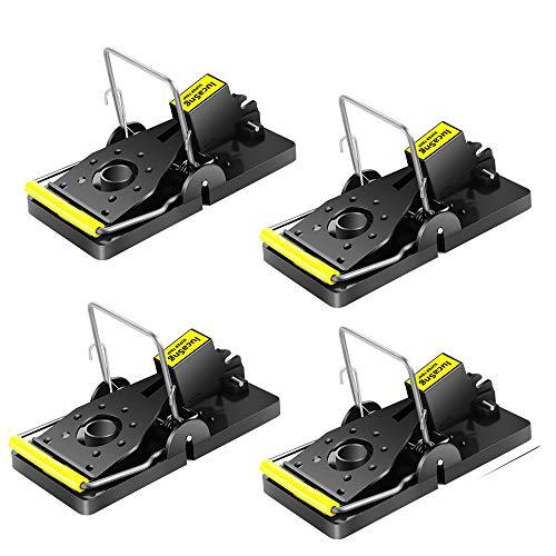 LucaSng Trampas para Ratones, Reutilizable Trampa Ratones, Alta Sensibilidad, Fácil de Usar, trampas de Control de Mascotas para Interiores y Exteriores -Paquete de 4