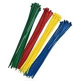 200 Piezas Bridas Para Cables, Bridas De Nylon De Color De Alta Calidad, 300mm X 3,6mm, Rojo, Amarillo, Azul, Verde, 50 Por Color