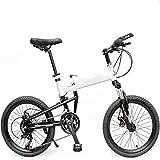 WEYQ Bicicleta Plegable BMX Aviación Marco de aleación de Aluminio Bicicleta de montaña 14 Transmisión de Velocidad Paquete de Freno de Disco mecánico Rueda de 20 Pulgadas Se,B