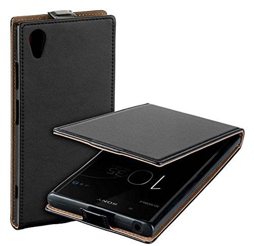 yayago Flip Tasche für Sony Xperia XA1 Plus / XA1 Plus Dual Schutzhülle Flip Hülle Hülle Klapphülle Schwarz