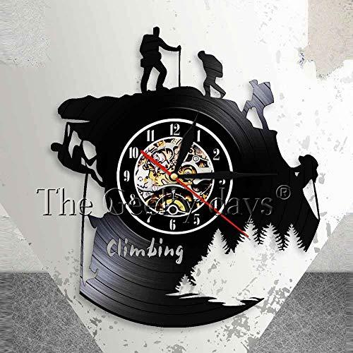 UIOLK Disco de Vinilo de Escalada Deportiva diseño de Reloj de Pared 3D Mesa de Escalada de Pared decoración de Sala de Estar de Pared
