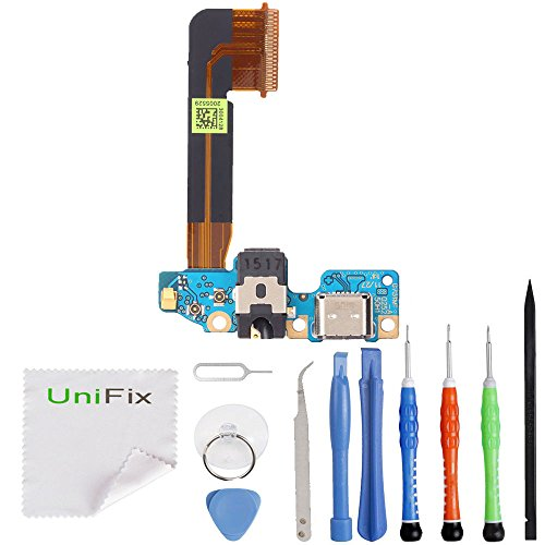 Unifix Charging Dock USB Port Replacement Parts with Microphone Connector Headphone Jack Assembly for HTC One M9 + Toolkit