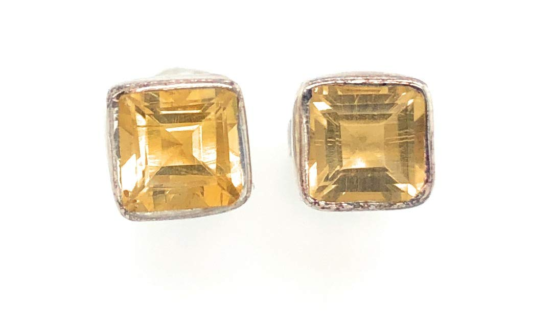 Natural 1.5ct Golden Citrine 925 5 Sterling Silver Popular overseas Solid Ranking TOP11 Earring