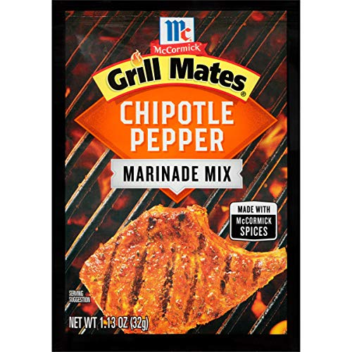 McCormick Grill Mates Chipotle Pepper Marinade Mix (Smoky, Spicy Blend of Chipotle Peppers, Tomatoes, Garlic and Onion, Great for Chicken, Pork or Seafood), 1.13 oz (Pack of 12)