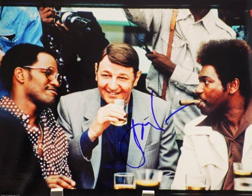 Jon Voight In-Person Autographed 8x10 Photograph - Signed in Blue Sharpie - From film Ali - As Howard Cosell - Films: National Treasure/Heat/Midnight Cowboy / 24 / Coming Home - Rare Collectible