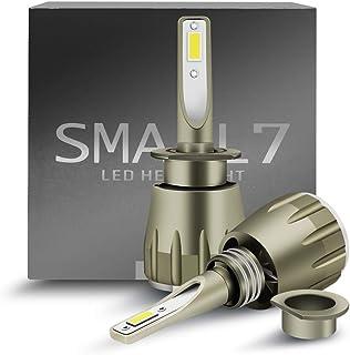 H1 LED 前灯 车用 灯泡套装 支持车检9,600流明 高亮度 LED 带芯片 LED灯泡 转换 套件 12v 替换灯泡 支持车检