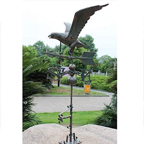 Y DWAYNE Veleta Retro para jardinería,tejado para Patio,señal de dirección,Veleta,águila de Gran tamaño,Veleta,césped al Aire Libre,Jardines,Adorno