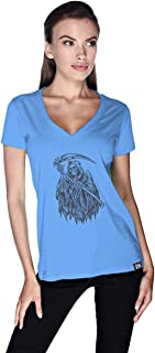 Creo Death Skull Bikers T-Shirt For Women - Xl