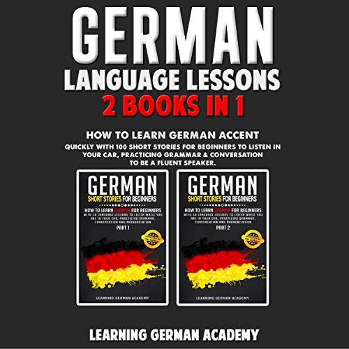 German Language Lessons: 2 Books in 1 Titelbild