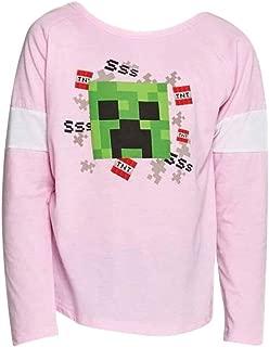 Minecraft Creeper Girls Long Sleeve Shirt