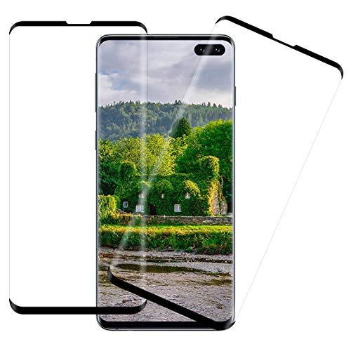 [2 Pack] Panzerglas Schutzfolie Kompatibel mit Samsung Galaxy S10 Plus, 3D-Curved,9H Härte,Anti-Scratch,Vollständige Abdeckung,hohe Empfindlichkeit,Displayschutzfolie Kompatibel mit Galaxy S10+