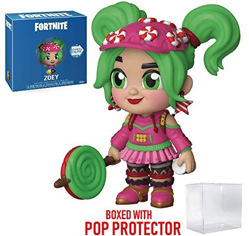 Figura de acción de 5 estrellas de Zoey Funko de Fortnite (incluye funda protectora de caja pop compatible)