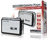 König Convertitore da Audiocassette ad MP3, Argento/Nero...